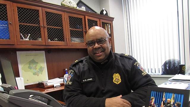JEFE. Marcus Jones juramentó en noviembre como jefe de la Policía del condado de Montgomery. | Foto: Milagros Meléndez - ETL.