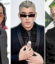 PRESENTES. Ozuna, Bad Bunny y J Balvin tienen nominaciones en los iHeartRadio Awards que se entregarán a finales de marzo.