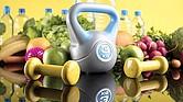 Cuidados. Ejercicios y buena alimentación para una vida sana.