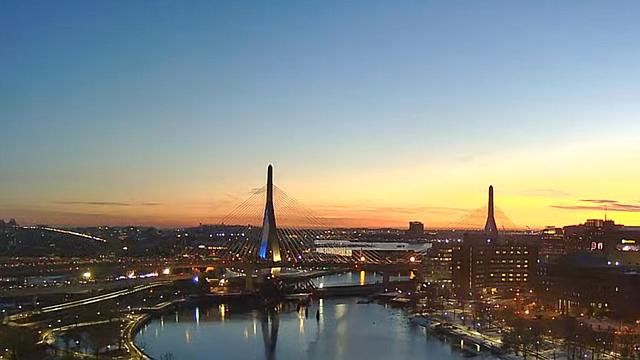 CLIMA. Vista de la salida del sol en Boston. Día para pasar un tiempo al aire libre con sol, vientos ligeros y temperaturas de hasta 40 grados