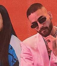 DJ Steve Aoki y Maluma.