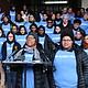 Deborah Dunlap, madre representante de Roxbury Prep y residente de Roslindale, habla en una manifestación de los estudiantes, que exigen que la Alcaldía de Boston los reubique a una nueva sede