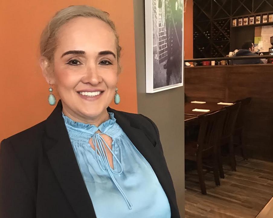 Lucy Pineda, candidata a la Secretaría de Salvadoreños en el Exterior del partido Nuevas Ideas