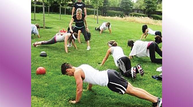 Sesión de ejercicios en el Pan Am Center.