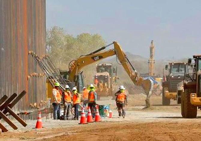 Aceleran la construcción del muro fronterizo