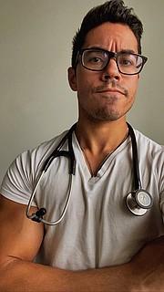 PACIENTE. David Vega, estudiante de medicina de Indiana