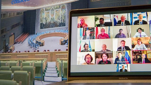 REUNIÓN. El Consejo de Seguridad de la ONU conversó sobre la incursión armada en Venezuela mediante una videoconferencia. | Foto: ONU/Eskinder Debebe.