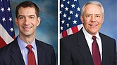 El senador Tom Cotton (Arkansas/ Izq.) y el representante Ken Buck (Colorado/ Der.)