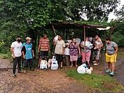 FAMILIAS. El comité de ayuda para El Bajo Lempa Tecoluca activó esfuerzos en el DMV para ayudar a más de 130 familias. | FOTO: Cortesía Comités