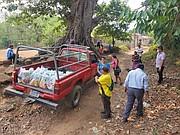 TRANSPORTE. Debido al COVID-19, desplazarse es difícil para la Comunidad Milagros Segundo Montes en Jiquilisco, Usulután. | FOTO: Cortesía Comités