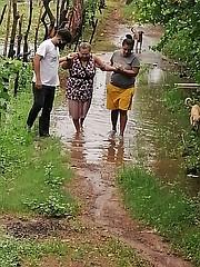 LLUVIAS. La zona del Bajo Lempa en El Salvador ha sido fuertemente afectada por las lluvias además de las restricciones por el COVID-19. | FOTO: Cortesía Comités