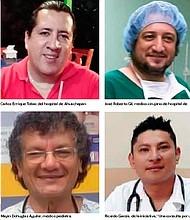 CASOS. Varios médicos fallecieron en las últimas 24 horas en diferentes partes del país. | Foto EDH / Cortesía