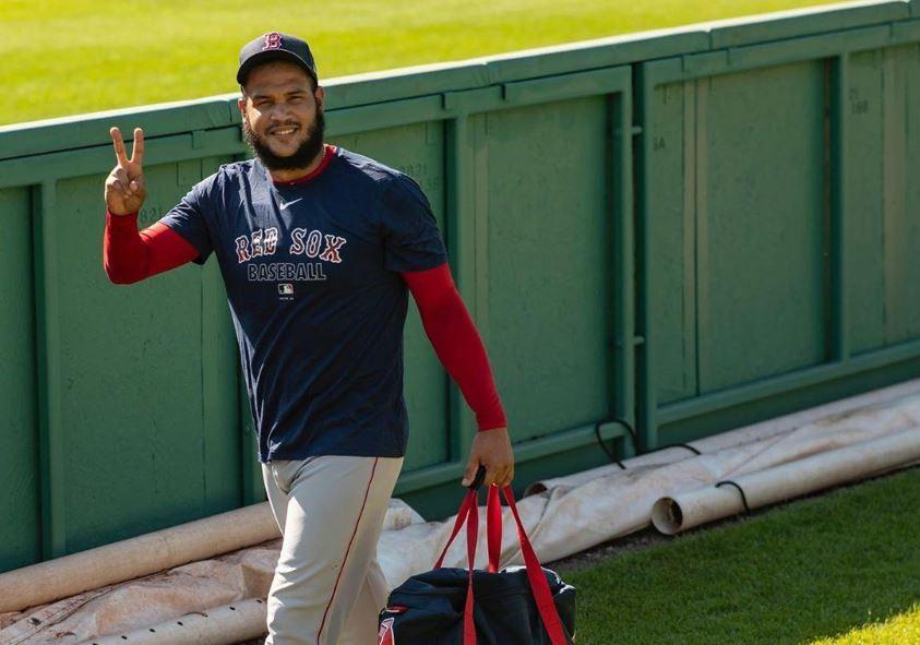 RETORNO. Fotos de Eduardo Rodríguez mientras entrena difundió la cuenta en Twitter de los Red Sox. | Foto: Twitter @RedSoxBeisbol.