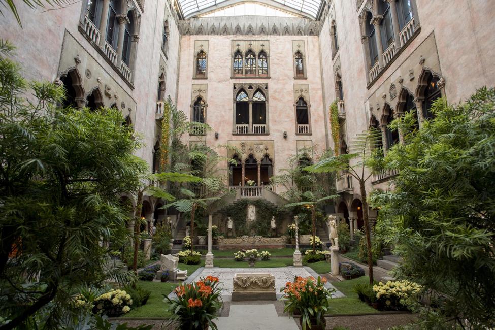 Jardín interior del Museo Isabella Stewart Gardner (Foto de Sean Dungan Gentileza: Museo Isabella Stewart Gardner)