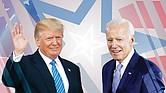 POSTURAS. Donald Trump recorre el país con rapidez para mostrarse como el líder que afronta la pandemia directamente, sin mascarilla; mientras que las restricciones de bioseguridad perjudican la campaña de Joe Biden.