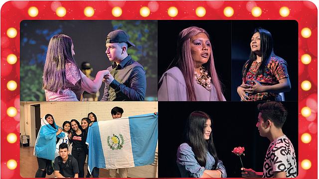 HISTORIAS. Los encuentros en el teatro eran el bálsamo para que muchos dejaran afuera su timidez y dieran vida a una historia. La mayoría de jóvenes que participan en el programa de teatro son originarios de los países centroamericanos. | FOTO: Alex Smith/KCUR - CORTESÍA PASO NUEVO