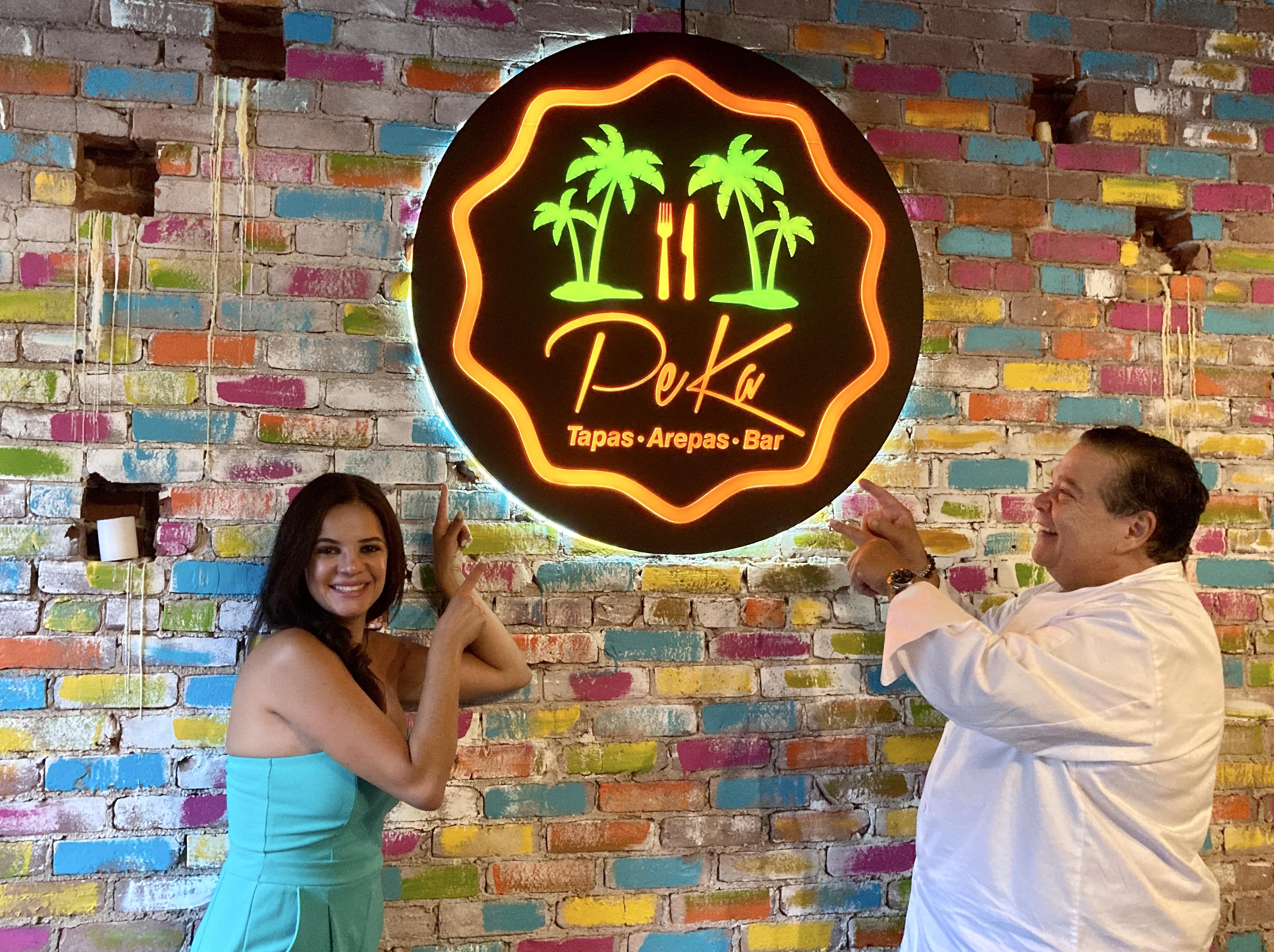 Katiuska Valiente y Pedro Alarcón, dueños de Peka Restaurant