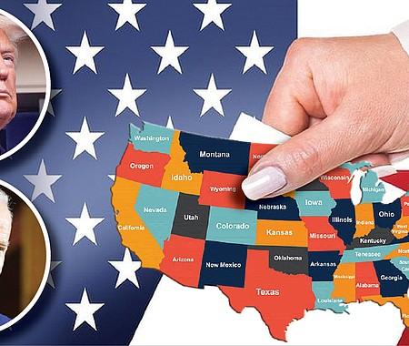 EXPECTATIVA. En esta elección, como en los últimos veinte años, la elección del presidente se definirá con los votos electorales de Florida, Wisconsin, Arizona, Carolina del Norte, Michigan y Pensilvania.