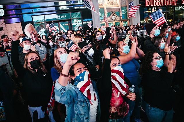 FESTEJO. En todo el país hubo celebraciones por la victoria de Joe Biden. | Foto: Efe.