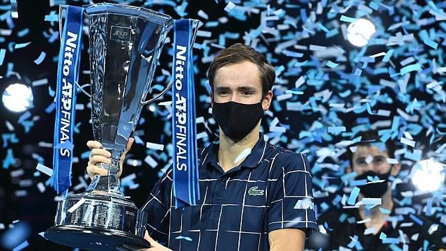 CAMPEÓN. Medvedev se llevó a casa el título del Torneo de Maestros/EFE