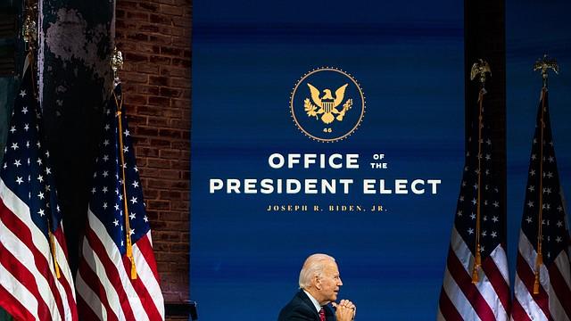 El presidente electo Joe Biden en Delaware.   FOTO: Demetrius Freeman — The Washington Post  