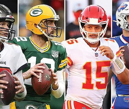 Los Buccaneers • los Green Bay Packers • Kansas City Chiefs  • los Buffalo Bills