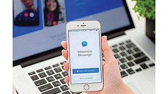 TRAMPA. El detalle es claro: el logo es el mismo de Facebook Messenger, pero la página es 'Massenger'.