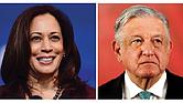 Kamala Harris y Andrés López Obrador.