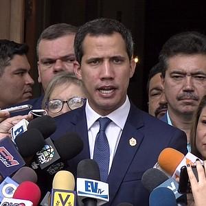 CONFLICTO. Presidente interino de Venezuela, Juan Guaidó dice que trabaja en conjunto con el Gobierno del presidente Iván Duque para frenar la presencia de guerrilleros en la región.