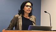 EN CIFRAS. La profesora de la universidad de Georgetown ofreció cifras actualizadas sobre el escándalo de corrupción.