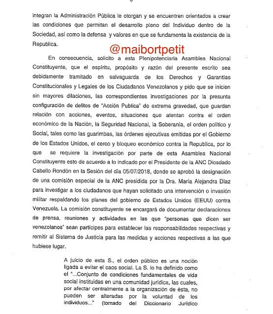 VENEZUELA. Documento Maibort Petit 2