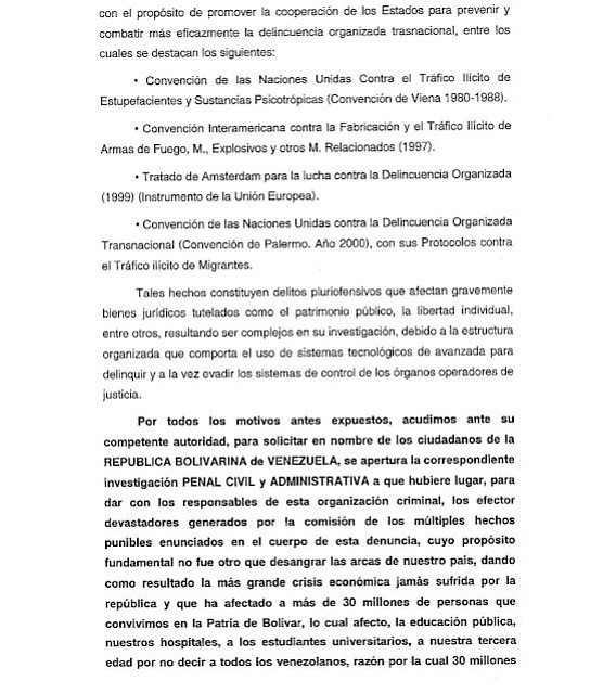 VENEZUELA. Documento Maibort Petit 5